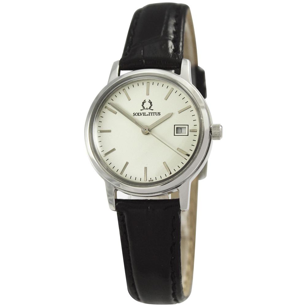 TITUS鐵達時天長地久系列輕步調時尚腕錶-銀28mm