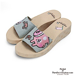 Paidal x 卡娜赫拉的小動物 - 螃蟹一片式厚底涼拖鞋