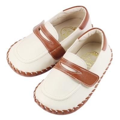 Swan天鵝童鞋-雙色樂福學步鞋 1466-咖