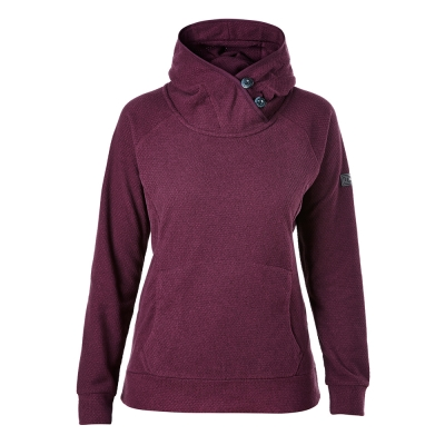 【Berghaus 貝豪斯】女款刷毛保暖連帽上衣H51FC2-紫
