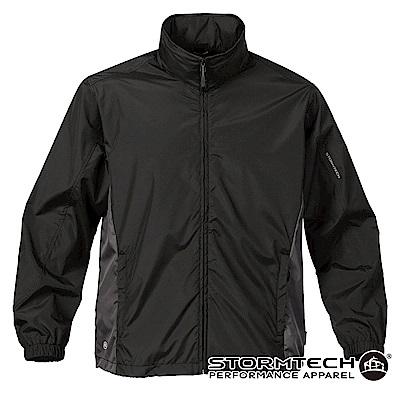 【加拿大STORMTECH】SR-1 輕便可收納腰部拼接抗水防曬外套-男-黑