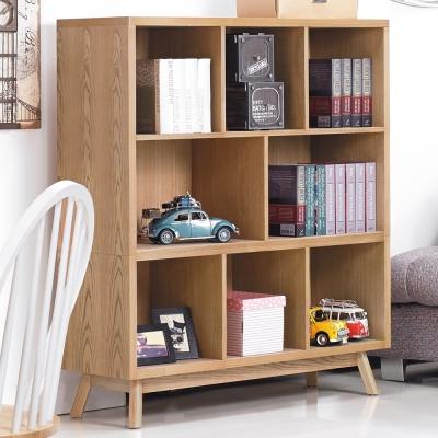 品家居 達斯汀4尺開放式書櫃-120x38x133cm-免組
