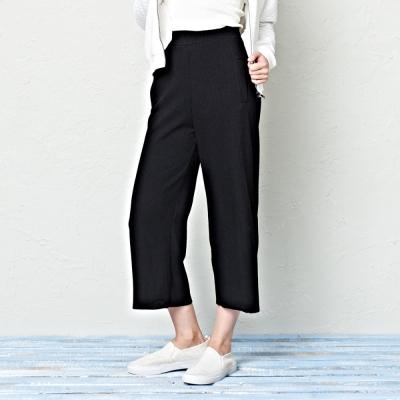 針織寬褲-兩色-CACO