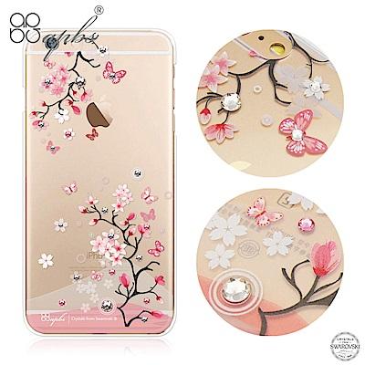 apbs iPhone6s/6 4.7吋 施華洛世奇彩鑽手機殼--日本櫻