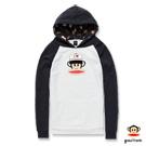 PAUL FRANK-卡車帽造型猴頭連帽口袋T恤-灰(男)