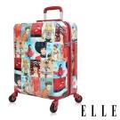 ELLE 70週年復古雜誌系列-29吋純PC防盜/防爆拉鍊行李箱/旅行箱 EL31181