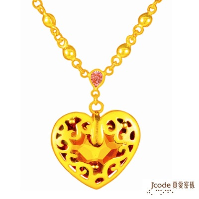 J'code真愛密碼 晶亮心情 純金項鍊