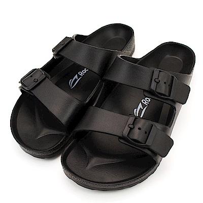 24H-Roadpacer-雙釦環休閒拖鞋BS020BLK-黑