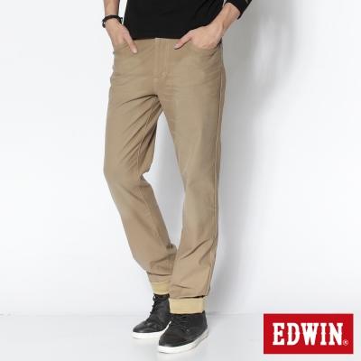 EDWIN 大尺碼AB褲 迦績褲JERSEYS圓織休閒褲-男-淺卡其