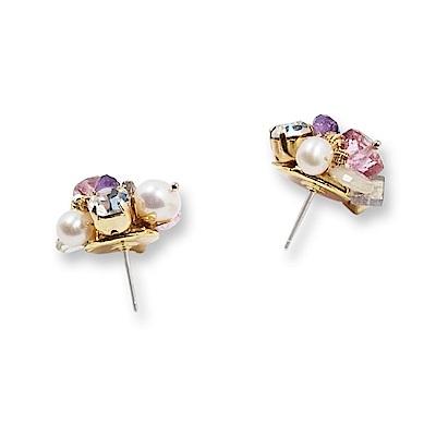 Luce Costante fiore perla系列耳環(針式/夾式)