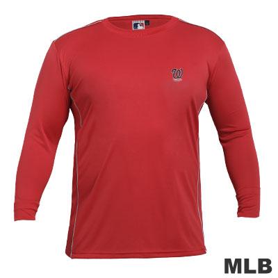 MLB-華盛頓國民隊LOGO排汗T恤-紅(男)