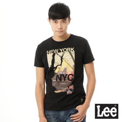 Lee 短袖T恤 NEW YORK城市彩色圖案印刷 -男款(黑)