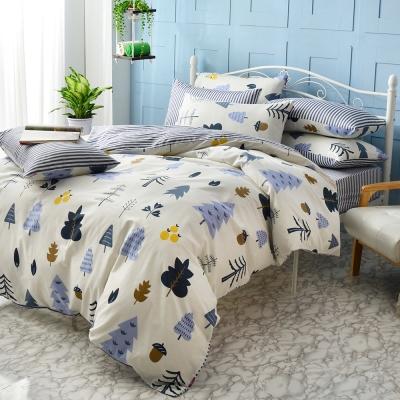 英國Abelia 森林物語 雙人純棉四件式被套床包組