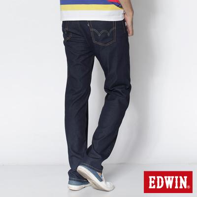 EDWIN 大尺碼COOL RELAX中直筒牛仔褲-男款(原藍)