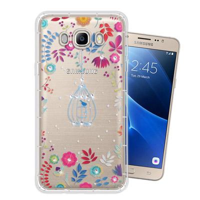 WT-Samsung-Galaxy-J7-2016-奧地利水晶彩繪空壓手機殼-鳥羽花萃