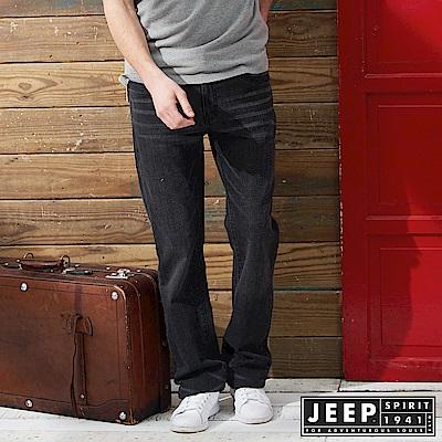 JEEP 美式經典刷色牛仔長褲 -黑色