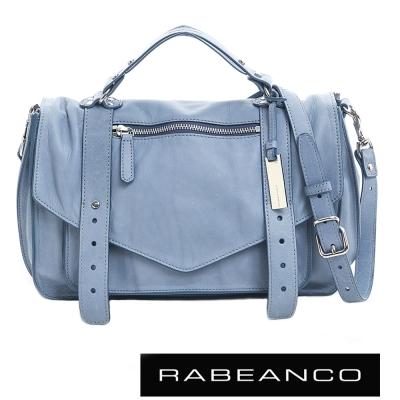 RABEANCO-Modern現代美學系列雙飾帶包-小-天藍