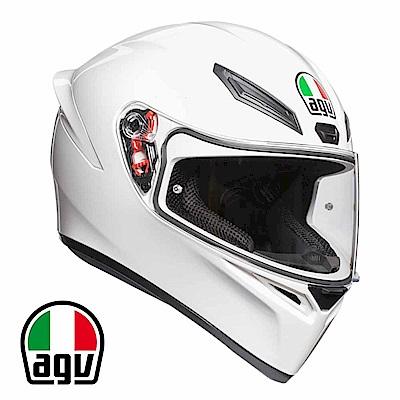 AGV K1 全罩安全帽 亮白素色 台灣公司貨 亞洲頭型