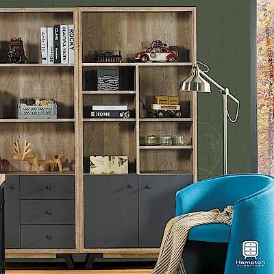 漢妮Hampton艾爾賓系列工業風雙門書櫃-81x30x181cm