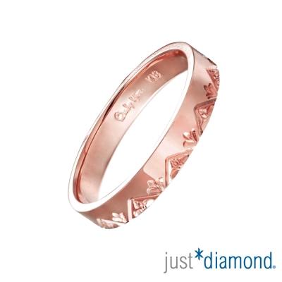 Just Diamond 18K玫瑰金戒指(3mm)-花菱