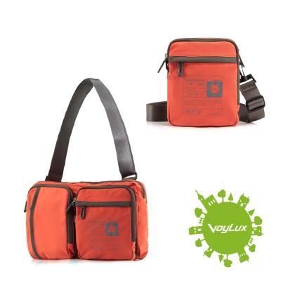 VoyLux伯勒仕-百貨專櫃-兩用摺疊隨身包-側背包-3684458-橘色