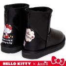 HELLO KITTY X Ann'S 閃亮日子防潑水雪靴禮盒 黑