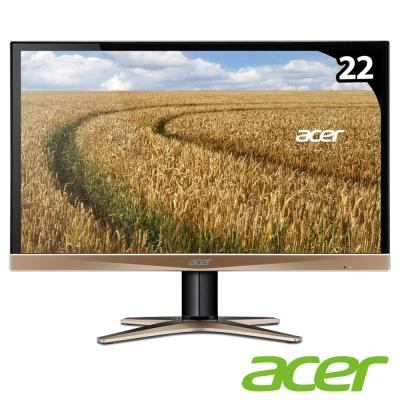 acer G227HQL-G 22型 IPS 薄邊框電腦螢幕(土豪金)