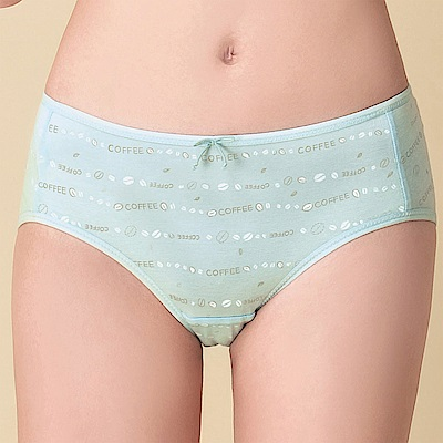 嬪婷 環保系列 咖啡紗牛奶纖維 M-LL 低腰平口 生理褲(清透綠)