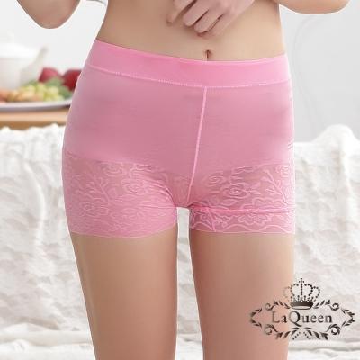 塑褲  蠶絲無痕中高腰輕塑褲-粉 La Queen