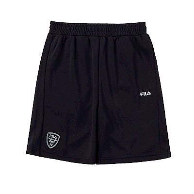 FILA KIDS 男童吸濕排汗4分褲-黑 1SHS-4436-BK