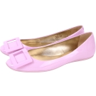 Roger Vivier Gommette 漆皮方框平底娃娃鞋(粉紫色)