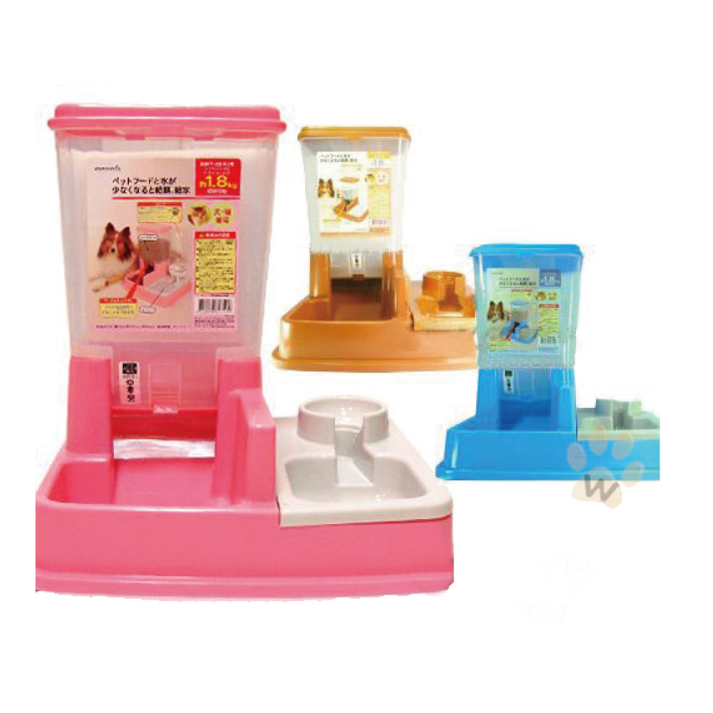 阿曼特 寵物專用自動餵食飲水器 顏色隨機 1入