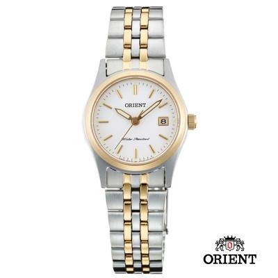 ORIENT 東方錶 OLD SCHOOL系列 藍寶石鏡面女錶-白x金框/26mm