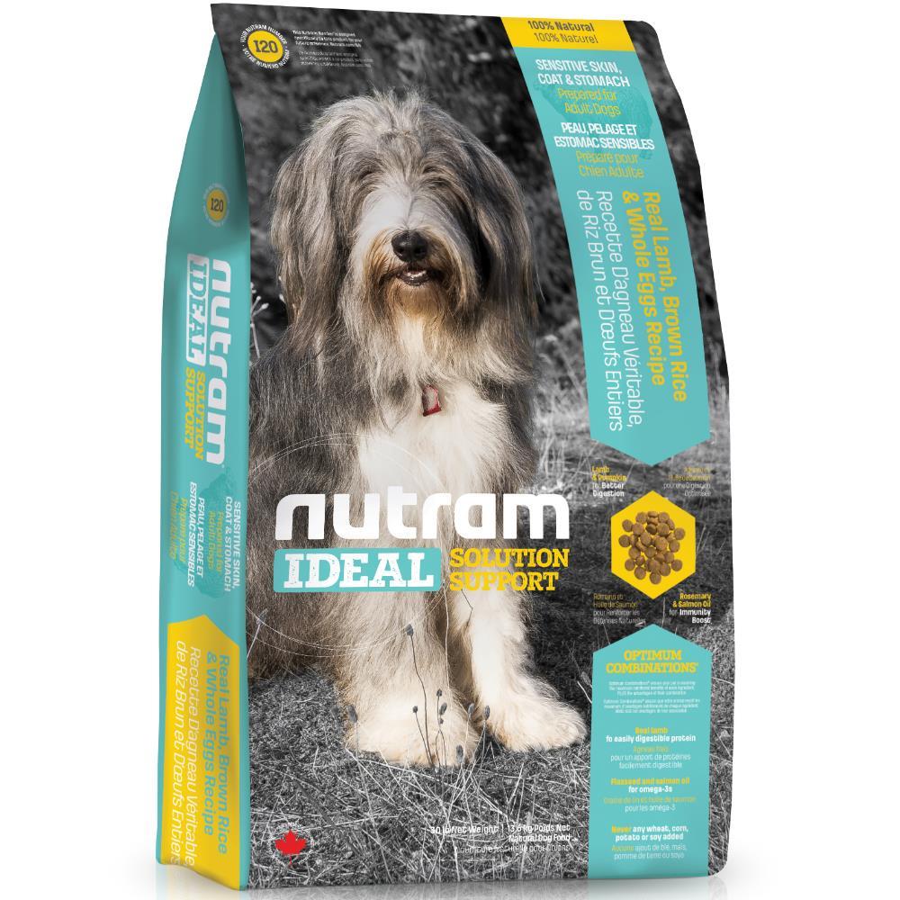 【NUTRAM】紐頓I20三效強化全齡犬(羊肉+糙米)6lb/2.72kg