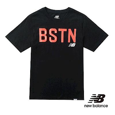 New Balance印花短袖T恤MT71535BK男性黑色