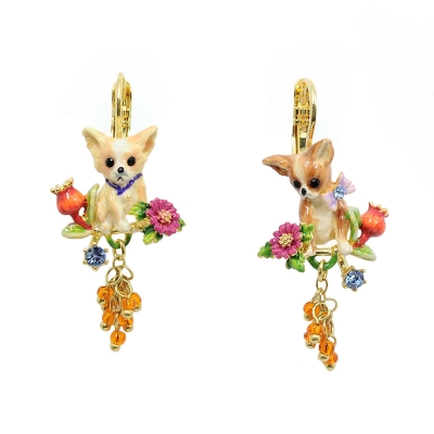 Les Nereides 吉娃娃系列花園寶石耳環