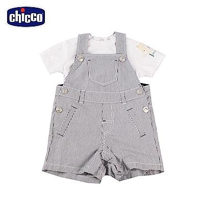 chicco- 競速小熊-短袖前開套裝-紫(6-12個月)