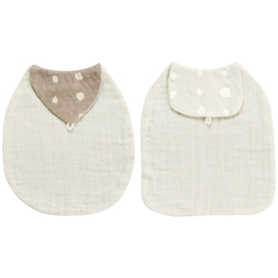 Naomi Ito 有機棉吸汗巾(灰/咖啡)