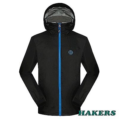 【HAKERS 】男-2.5L防水透氣外套-黑色