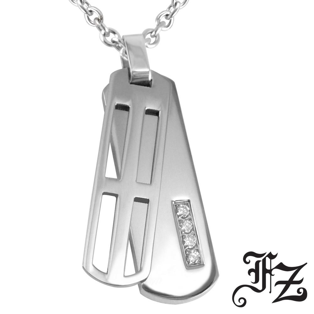 FZ  轉動十字愛情白鋼項鍊(小款)