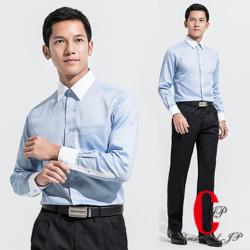極品西服 義式品味100%純棉修身襯衫_水藍(SW502-53)