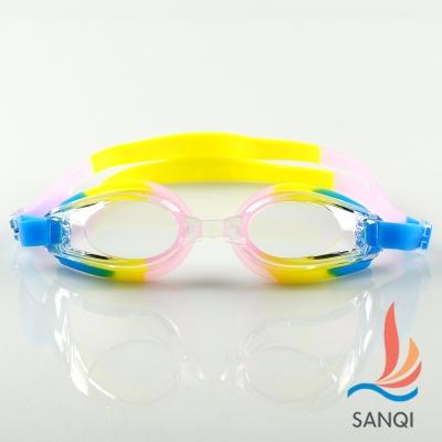 SANQI三奇 夏日必備抗UV防霧休閒泳鏡(8100-彩F)