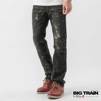 BIG TRAIN-墨洗小直筒褲-黑灰
