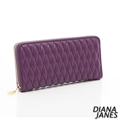 Diana-Janes-小羊皮時尚抓皺女夾-紫