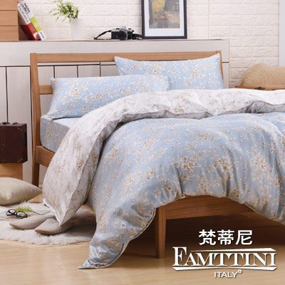 梵蒂尼Famttini-羅丹韻味 特大頂級純正天絲萊賽爾兩用被床包組