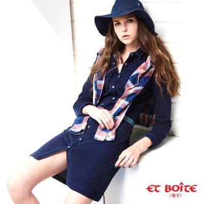ETBOITE-箱子-BLUE-WAY率性牛仔連身裙
