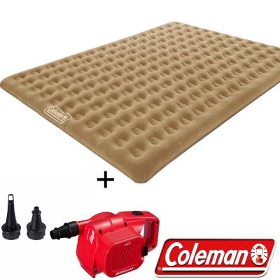 Coleman N608+21937 充氣睡墊300+電池打氣機組 露營床/充氣床/露營睡墊