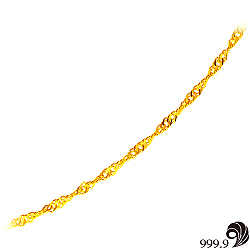 【歷代風華】幸運黃金(約0.95錢)項鍊