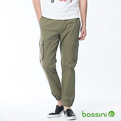 bossini男裝-輕鬆束口長褲03草綠