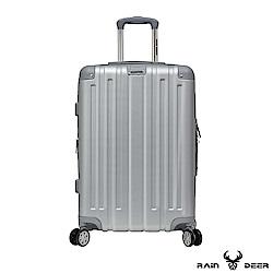 RAIN DEER 米克斯28吋ABS鑽石紋防刮行李箱-太空銀